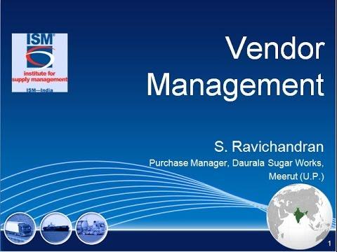 Webinar on VENDOR MANAGEMENT