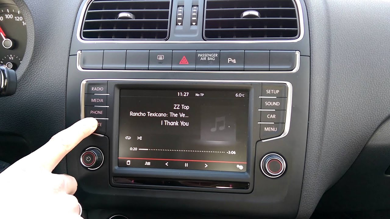 vw polo composition media radio ohne funktion youtube