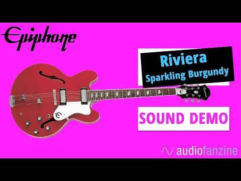 Epiphone Riviera Sparkling Burgundy : La Riviera fait son comeback (Sound Only)