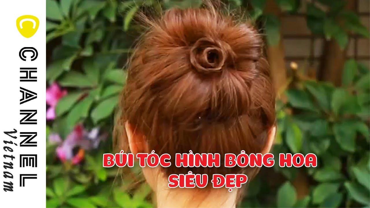 HƯỚNG DẪN Búi tóc hình bông hoa SIÊU ĐẸP