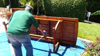 Cleaning Teak Outdoor Furniture.