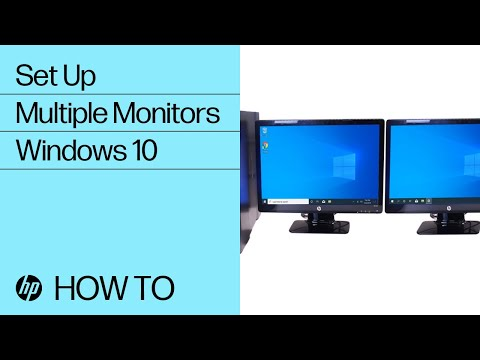 set-up-multiple-monitors-in-windows-10- -hp-computers- -hp