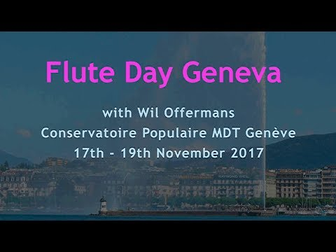Flute Day Wil Offermans, Conservatoire Populaire, Genève, Swiss - summary