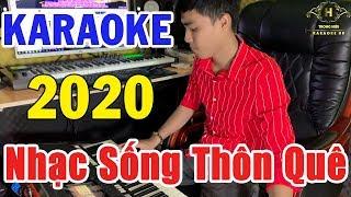 Karaoke Liên Khúc CHA CHA CHA Nhạc Sống Thôn Quê   Chút Kỷ Niệm Buồn - Hoa Cài Mái Tóc