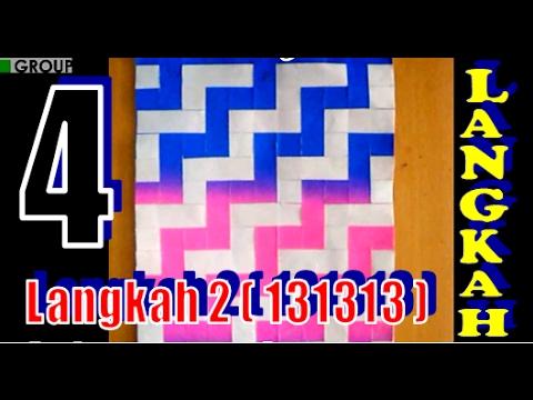 Kreatif Membuat Anyaman ZIG ZAG dengan 4 Langkah | Kerajinan Tangan