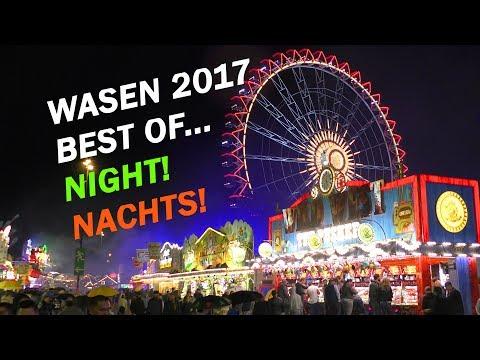 WASEN 2017 Cannstatter Volksfest Stuttgart BEST OF...NIGHT! ...NACHTS! Highlights 4K amusement rides