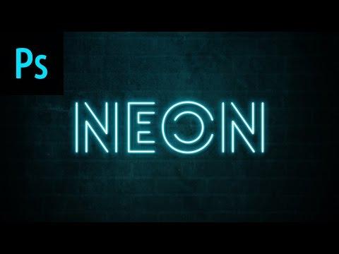Neon Text Effect Photoshop Tutorial