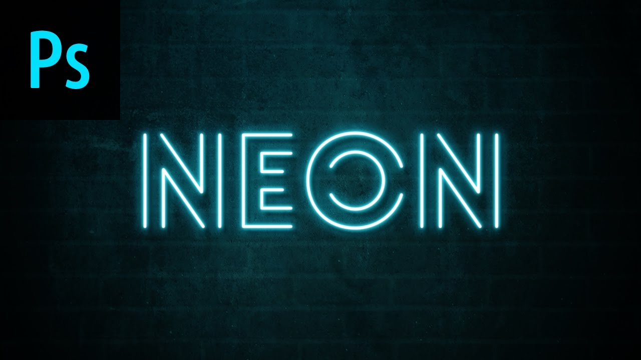 Neon text effect photoshop tutorial youtube thecheapjerseys
