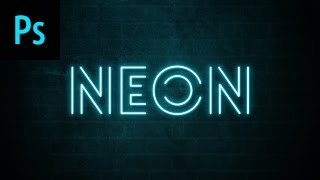 Design a Neon Text Effect Photoshop Tutorial
