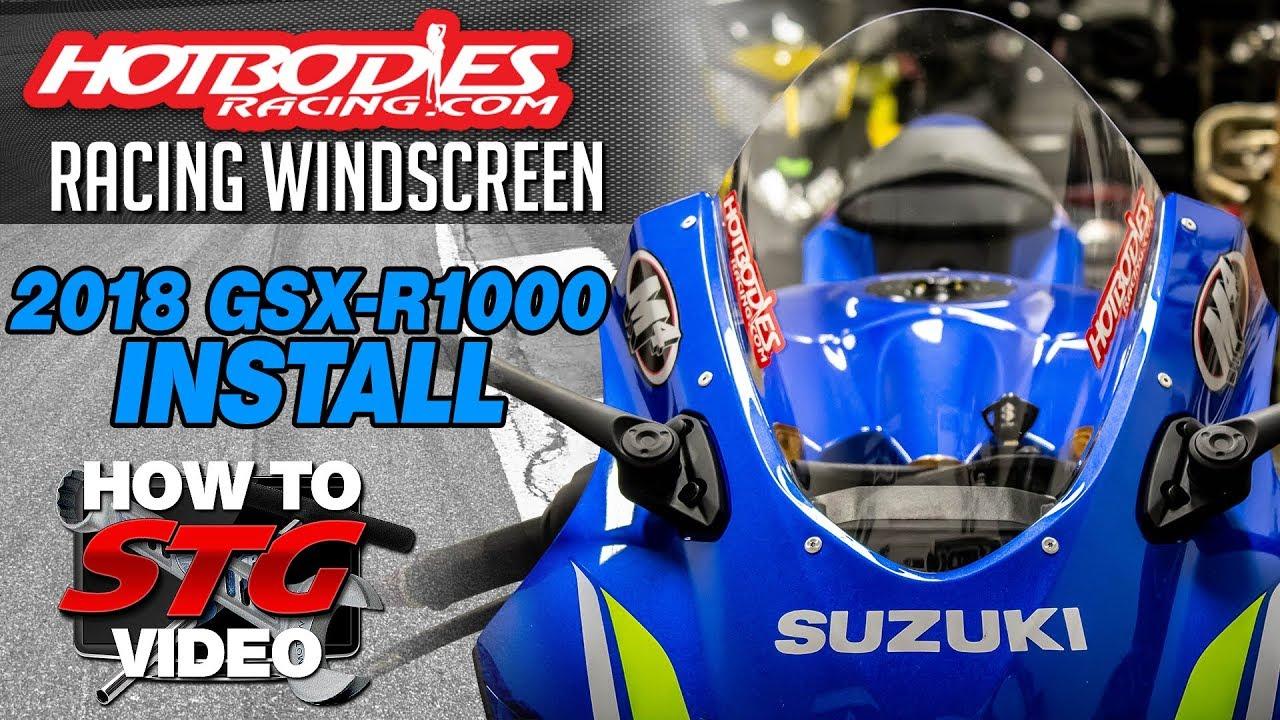 Hotbodies 2018 Suzuki Gsx R1000 Racing Windscreen Install Timing Belt 07 Gsxr Sportbiketrackgearcom