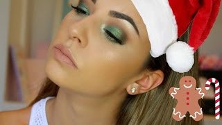 Holiday Green Smokey Eye Makeup Tutorial | Hooded Eyes