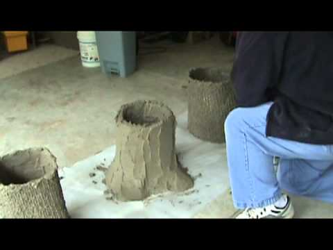 Making A Concrete Bench Part 1 Tree Stumps Mpg Youtube