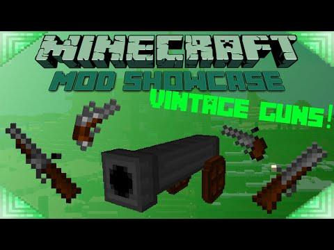 VINTAGE GUNS! - Minecraft Mod Showcase FLINTLOCK WEAPONS!!