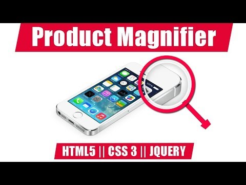 Product magnifier effect with Html 5 css 3 and Jquery magnify plugin