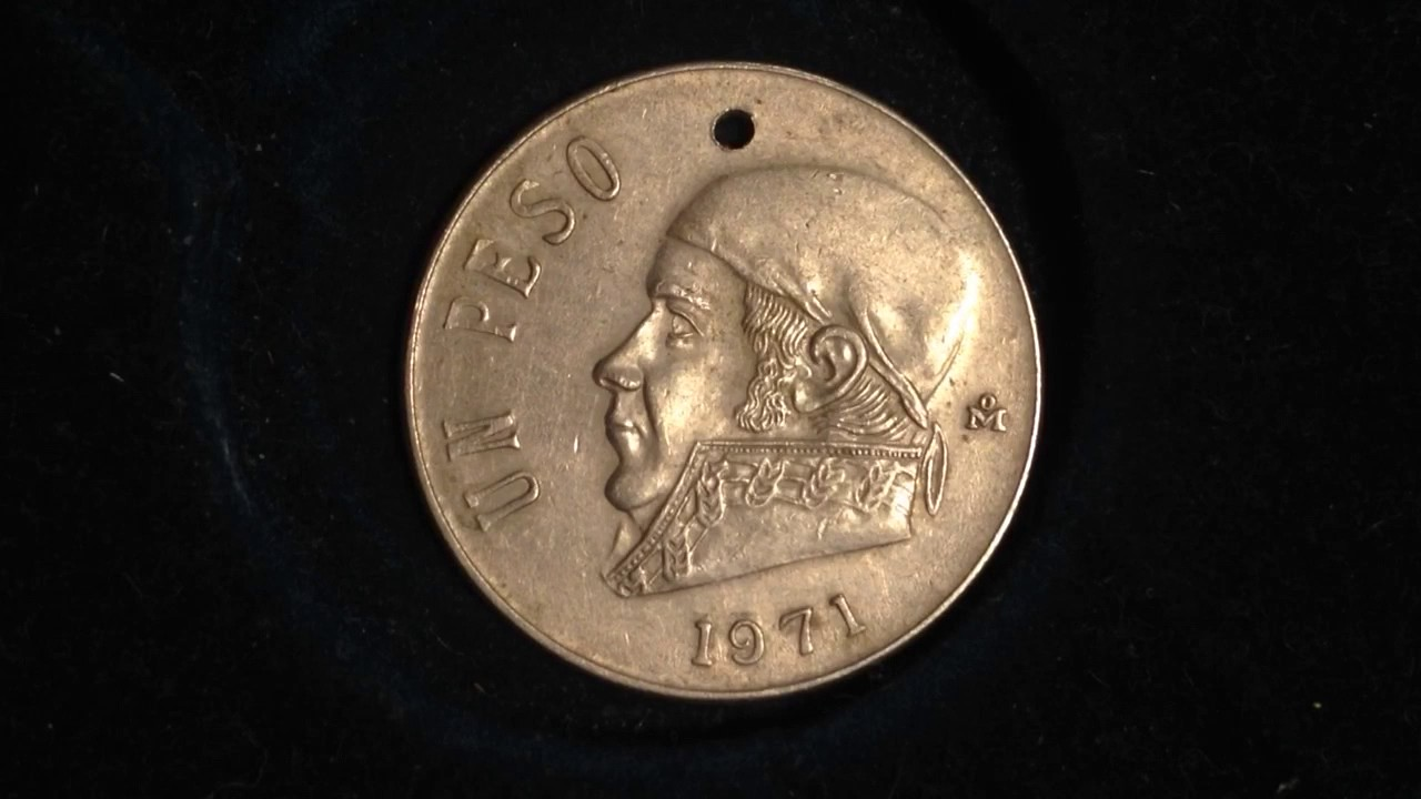 1 Peso Mexico Coin Dated 1971 (426 Million Produced)