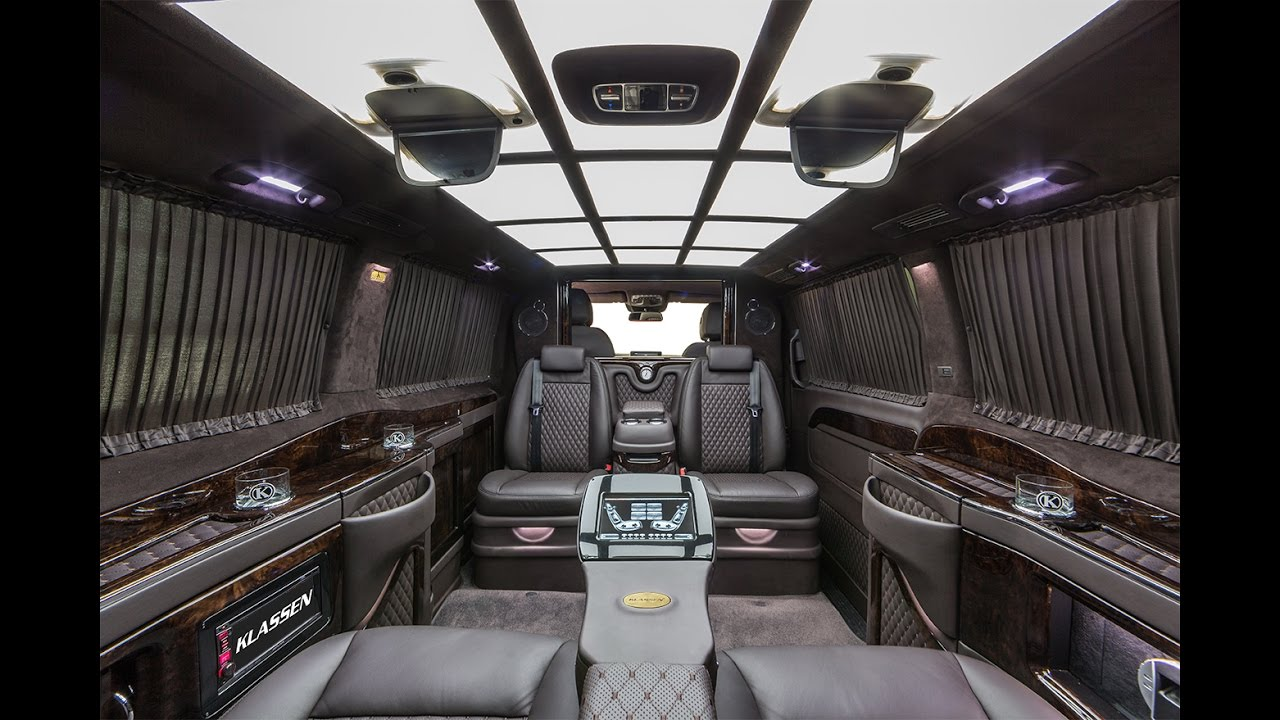 klassen special edition black mercedes benz v klasse vip business van interior youtube. Black Bedroom Furniture Sets. Home Design Ideas