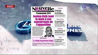 LA REVUE DES GRANDES UNES DU JEUDI 16 AOUT 2018 EQUINOXE TV