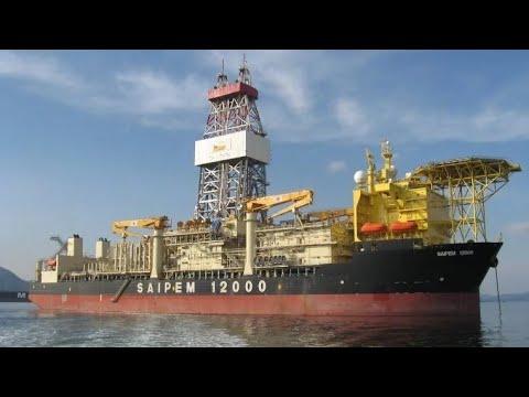 World Biggest Ship Rig in karachi Driling in deep sea | ExxonMobil Saipem 12000hp| ENI Oil Company|