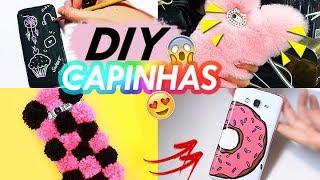 DIY CAPINHAS DE CELULAR GASTANDO POUCO | Capinha mágica, de pelúcia e tumblr!