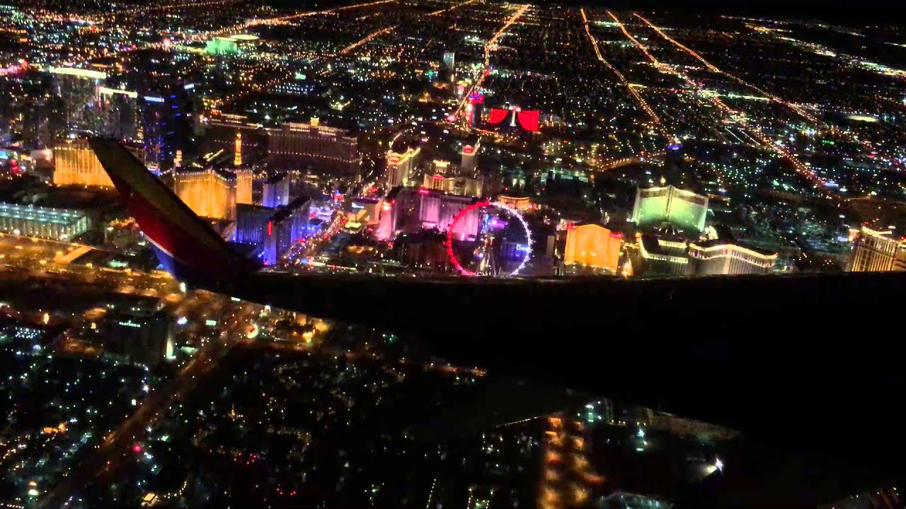 Las Vegas Strip From The Air Youtube