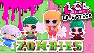 ZOMBIES Babies 🧟 Addison and ZED 💗 Custom LOL Surprise LIL SISTERS Dolls 💕 DIY Toy Tutorial
