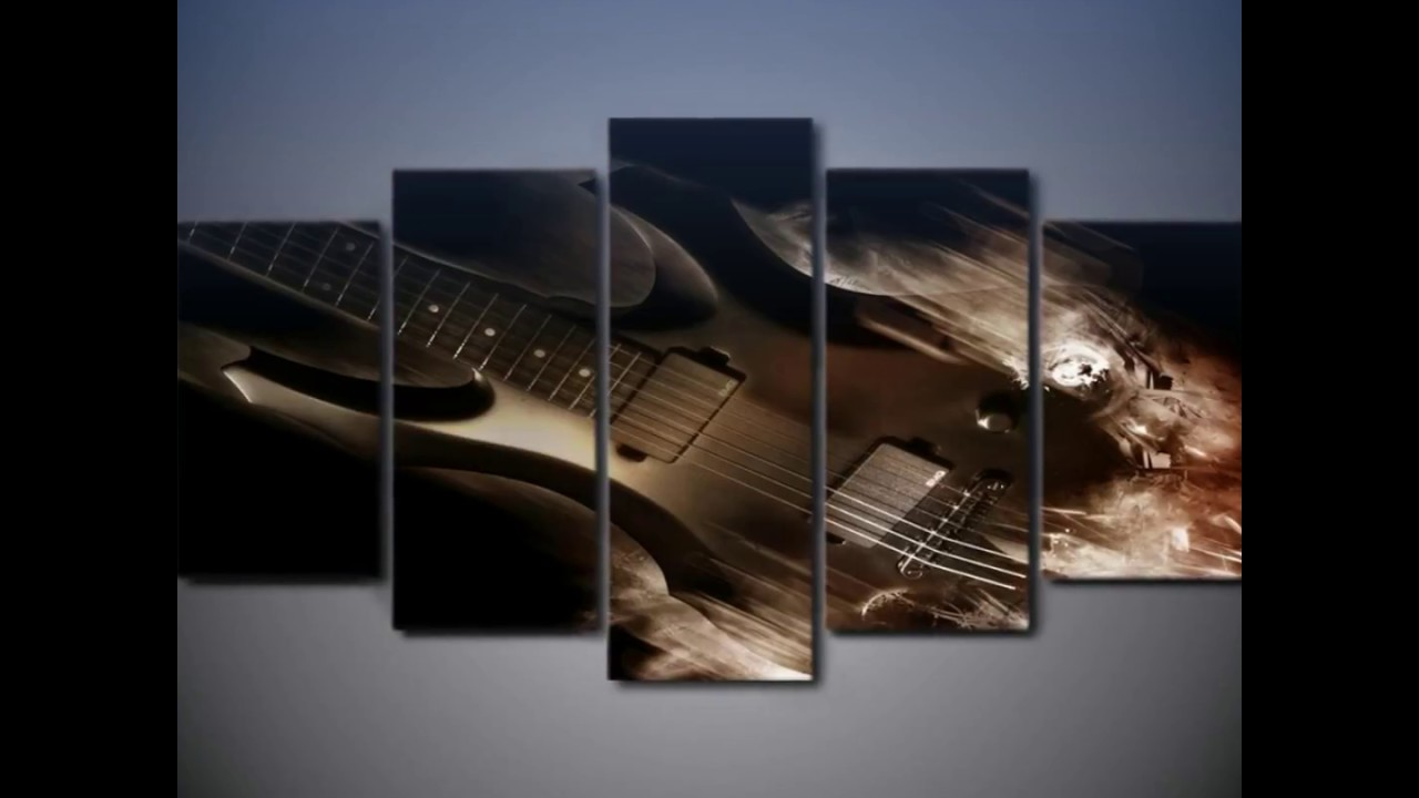 5 piece abstract classical guitar canvas wall art sets youtube