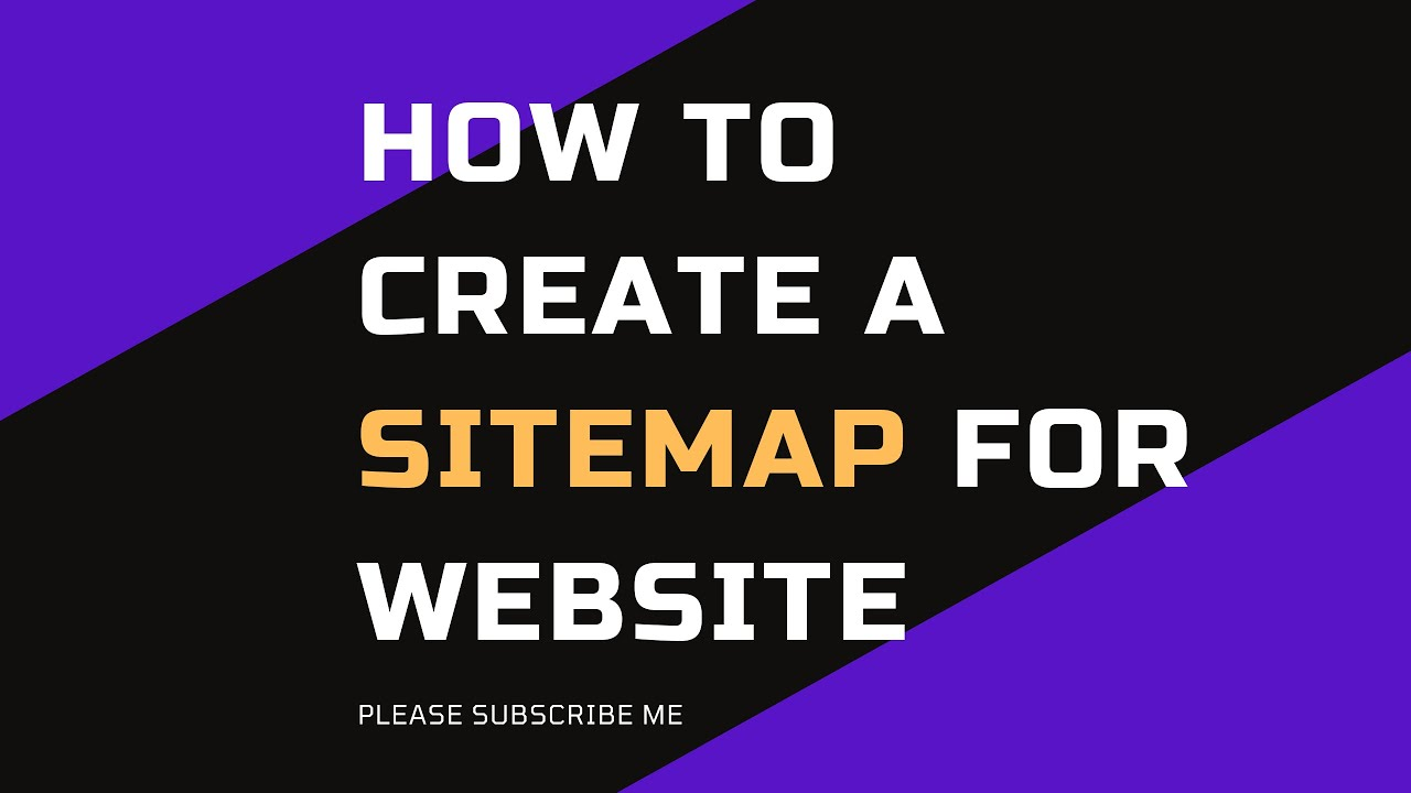 how to create a sitemap for website youtube