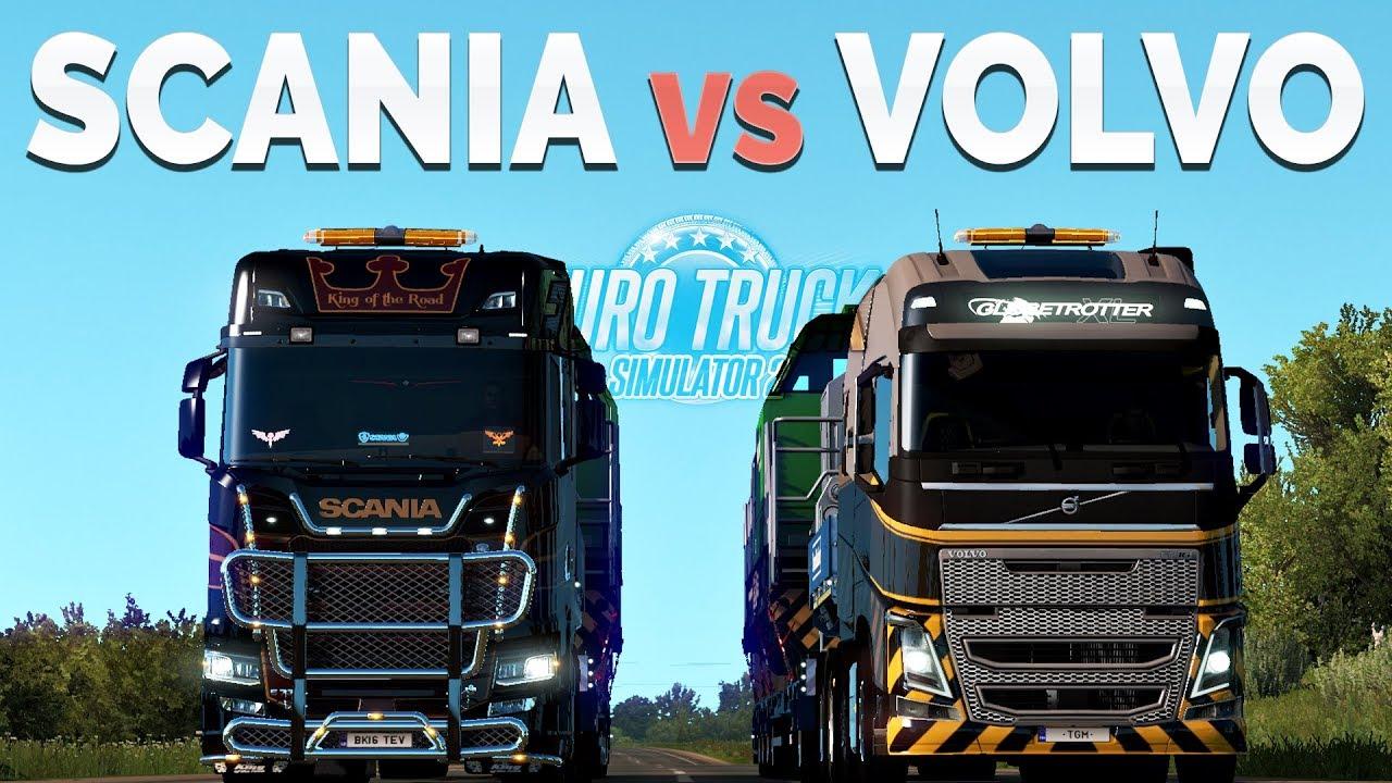 ETS2 - Scania S vs Volvo FH16 (730HP vs 750HP)