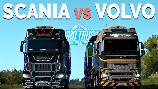ETS2 - Comparison Scania vs Volvo (Most Powerful Truck?)