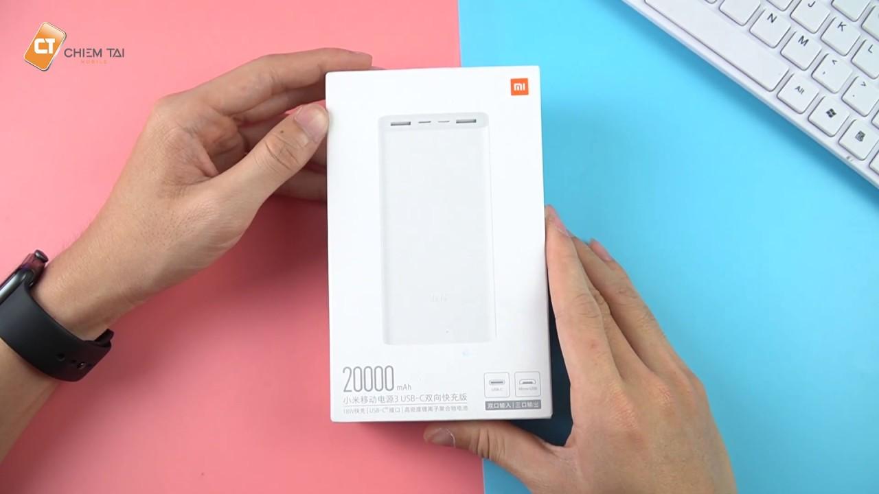 Sạc Dự Phòng Xiaomi Gen 3 20.000mAh 2019, Pin Trâu Hỗ Trợ Chuẩn PD Sạc Nhanh Cho iPhone!! Quá Ngon
