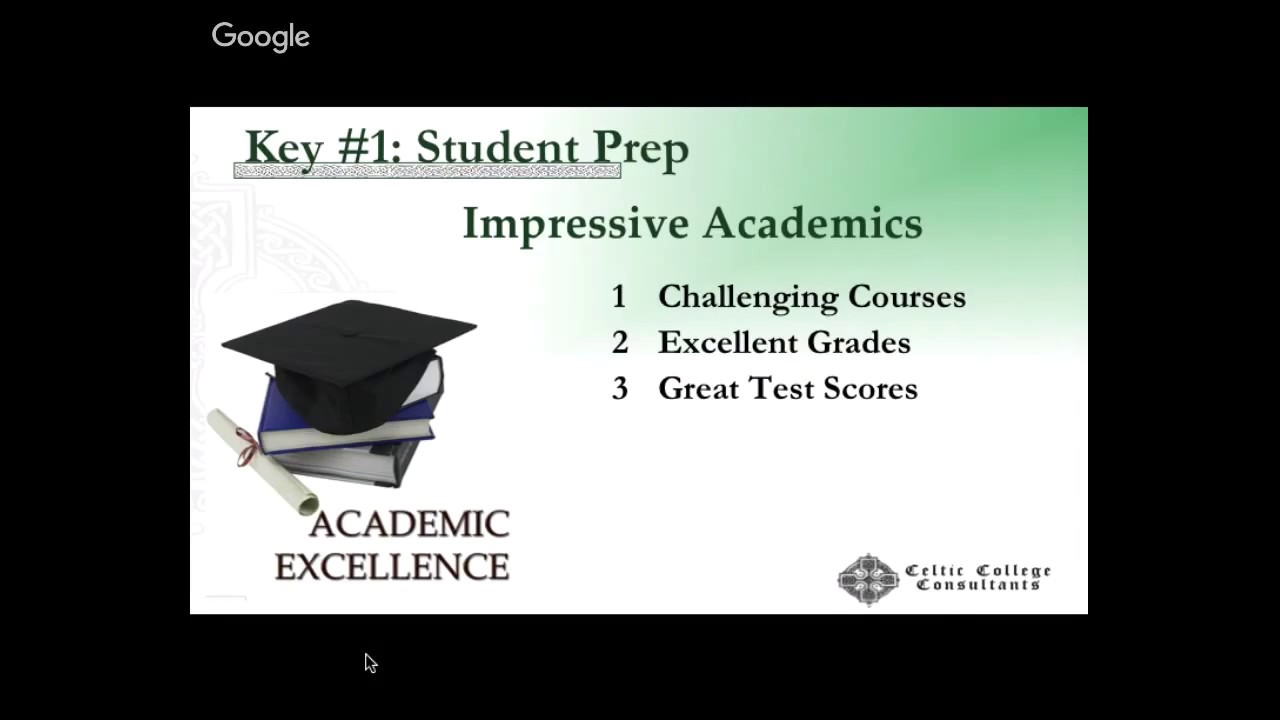 academic excellence is the key to success