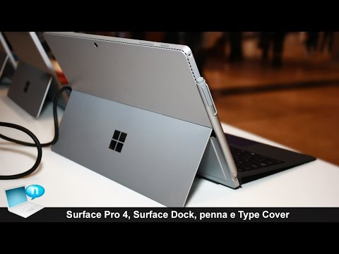 Microsoft Surface Pro 4, Surface Dock, penna e Type Cover