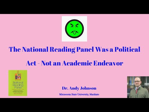 National Reading Panel and the 5 Pillars of Reading Instruct