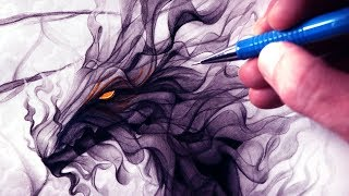 Let's Draw a SMOKE DRAGON - FANTASY ART FRIDAY