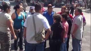 se agarran a golpes en zocalo de cuernavaca comerciantes del centro historico 04 01 2013