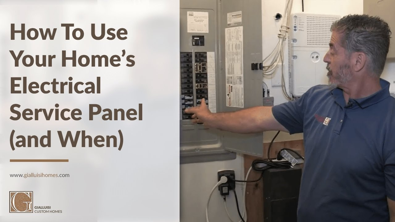 How To Use The Electrical Panel In Your Home Youtube Custom Wiring Gialluisi Homes