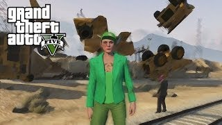 GTA 5 Funny Moments 14 (Trains, dump truck, titans + bus fun!)