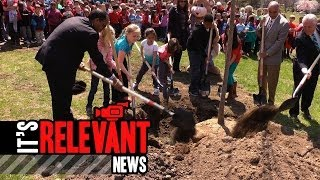 Wolfpit Elementary Plants A Tree For Arbor Day With Mayor Rilling