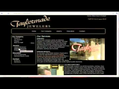 Jewelry Website Design and Content Layout Analysis