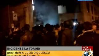 Gaze lacrimogene la Torino, în faţa secţiei de votare