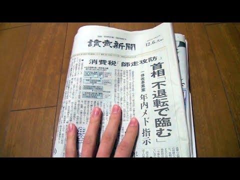 Unintentional ASMR 📰 Browsing through Japanese Newspaper & Paper Ads (Page Turning & Talking)