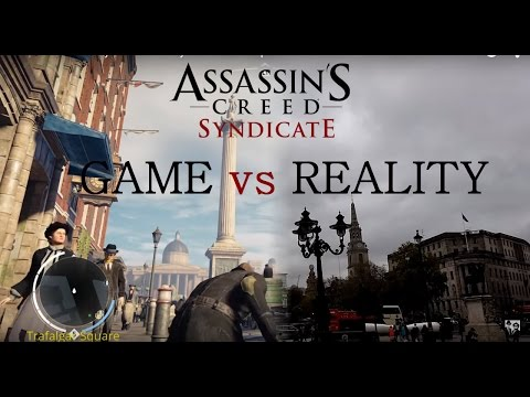 Assassin's Creed Syndicate Game vs Reality / PS4 vs Reality Comparison