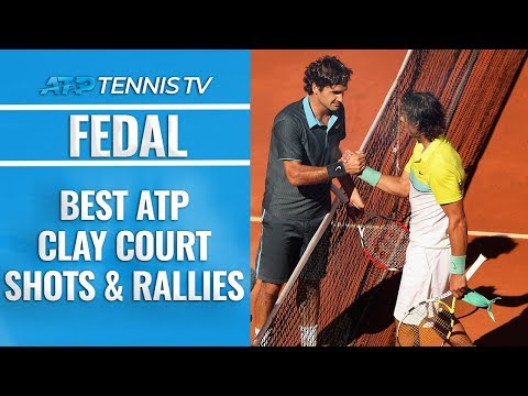 Roger Federer vs Rafael Nadal: Best ATP Clay Court Shots & Rallies!