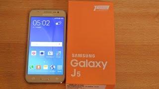 Samsung Galaxy J5 GOLD - Unboxing HD