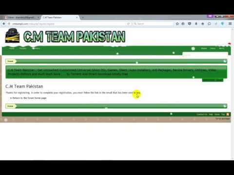 How To Registered Or Create Account On C M Team Pakistan Website