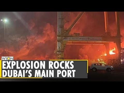 Huge explosion erupts on ship at Jebel Ali port, sending shockwaves through Dubai | WION World News