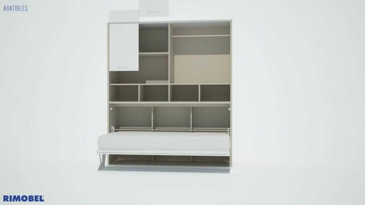 Camas abatibles rimobel disponible en muebles hervi youtube for Muebles rimobel