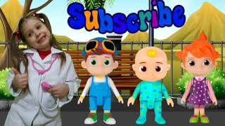 Boo Boo Song com CoComelon/Nursery Rhymes & Kids Song /Leah and Cocomelon JJ Doll Pretend Boo boo #5