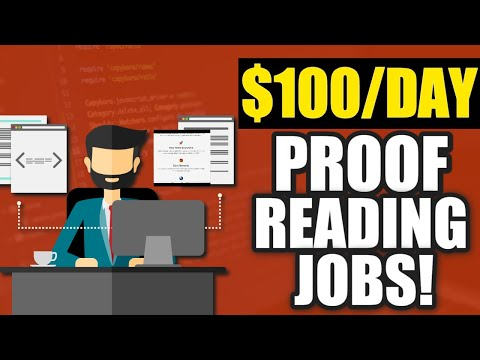 Make $100 Per Day Work From Home Proofreading Jobs | ProofReading Jobs Online 2020