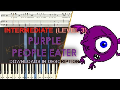 How to play Purple People Eater medium LEVEL 3 cover tutorial for kids